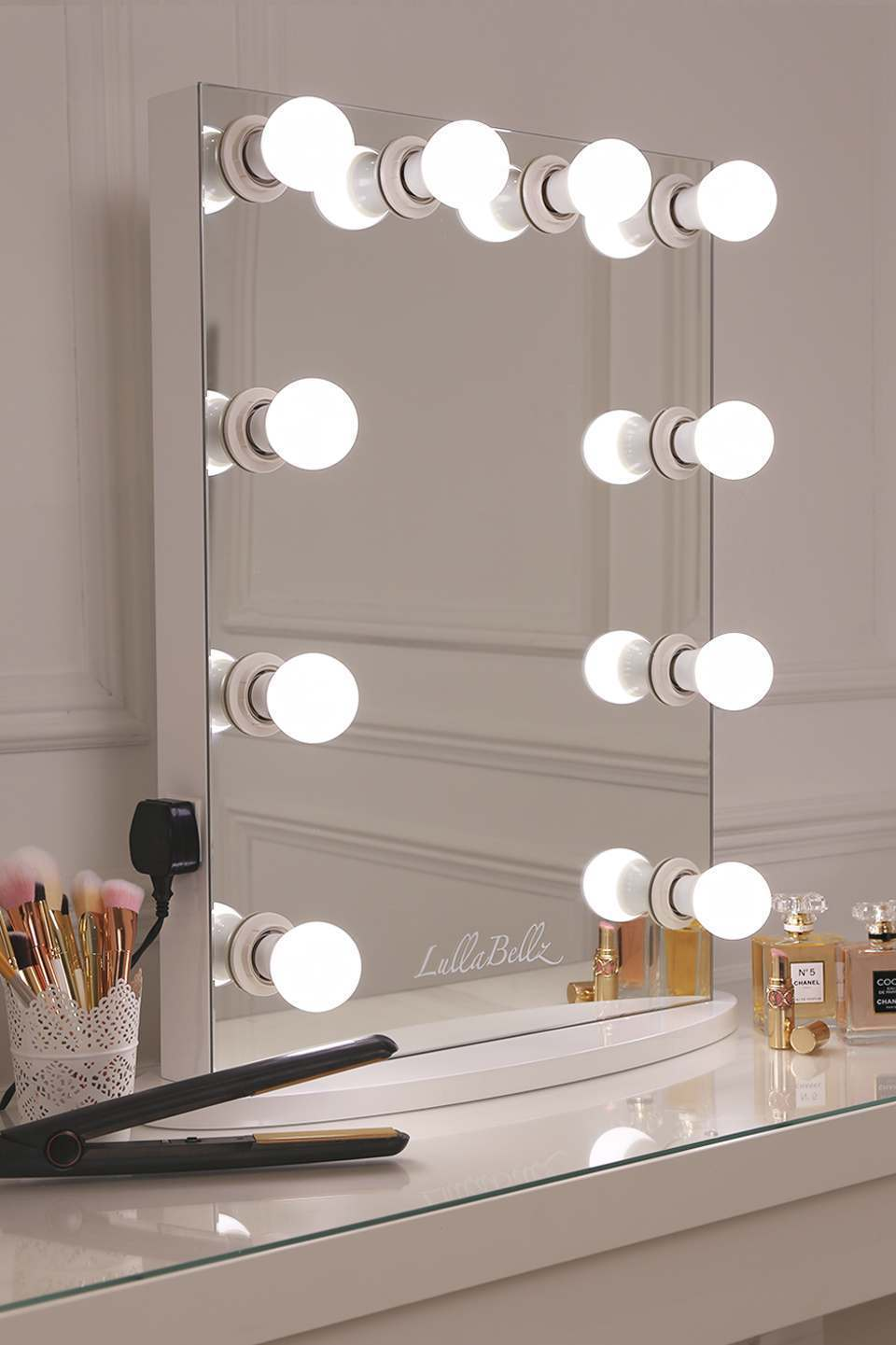 hollywood make up mirror lullabellz. Black Bedroom Furniture Sets. Home Design Ideas