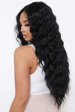 The Cassie - Natural Black Body Wave Lace Front Wig