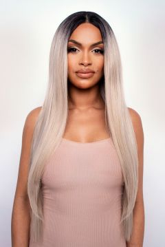 The Kiki - Platinum Long Sleek and Straight Lace Front Wig