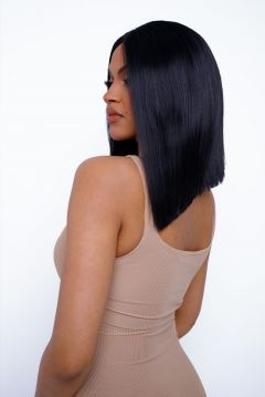 The Kylie - Jet Black Straight Lob Lace Front Wig