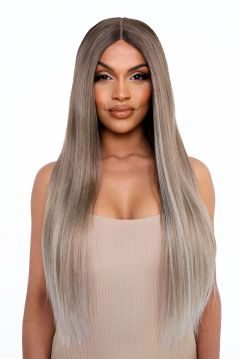 The Pia - Poker Straight Face Framed Balayage Blonde Lace Front Wig