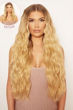 Super Thick 26 5 Piece Waist Length Wave Clip In Hair Extensions