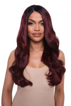 The RiRi - Red Hollywood Waves Lace Front Wig