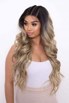 The Sienna - Double Braid Balayage Boho Waves Lace Front Wig