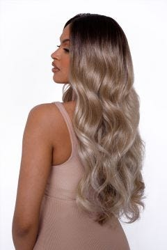 The Sophia - Rooted Blonde Balayage Angel Wave Lace Front Wig