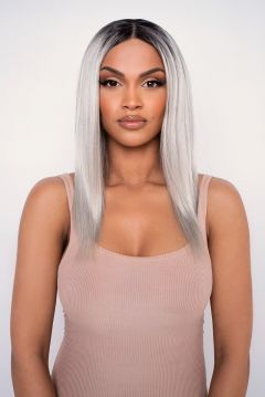 The Stormi - Platinum Straight Lob Lace Front Wig