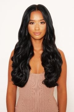 """Thick 20"""" 1 Piece Curly Clip In Hair Extensions"""