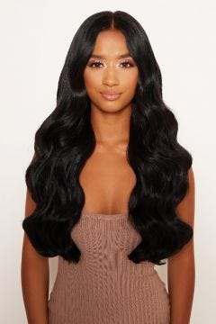 """Super Thick 22"""" 5 Piece Natural Wavy Clip In Hair Extensions"""