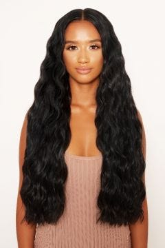 """Super Thick 26"""" 5 Piece Waist Length Wave Clip In Hair Extensions"""