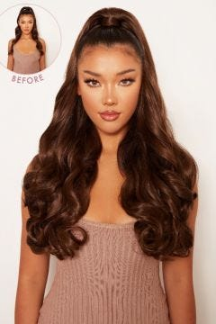Ultimate Half Up Half Down 22'' Curly Extension and Pony Set