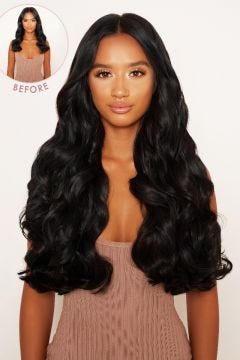 """Super Thick 22"""" 5 Piece Curly Clip In Hair Extensions"""