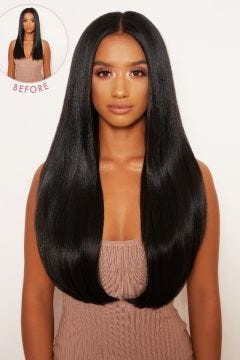 """Super Thick 22"""" 5 Piece Straight Clip In Hair Extensions"""