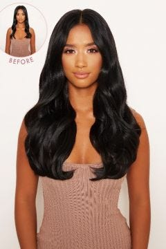 """Super Thick 16"""" 5 Piece Blow Dry Wavy Clip In Hair Extensions"""