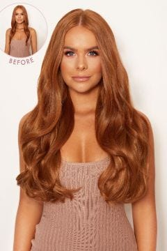 """Super Thick 22"""" 5 Piece Blow Dry Wavy Clip In Hair Extensions"""