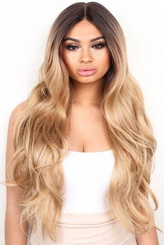 The Ciara - Golden Blonde Balayage Lace Front Wig