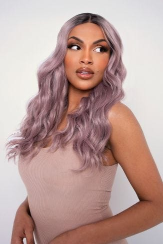 The Luna - Lilac Rooted Wave Lace Front Wig