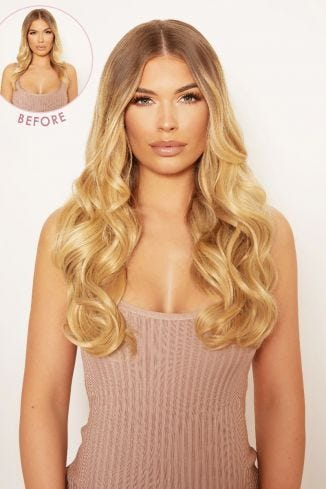 Thick 16 1 Piece Curly Clip In Hair Extensions
