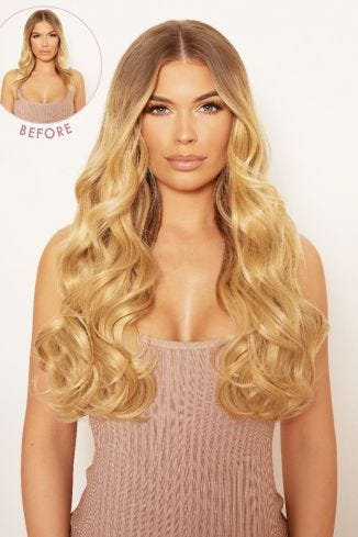 Thick 20 1 Piece Curly Clip In Hair Extensions