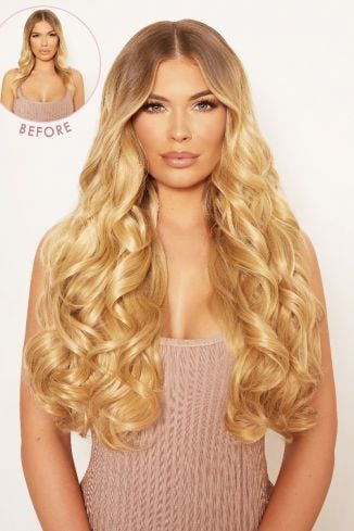Super Thick 22 5 Piece Curly Clip In Hair Extensions