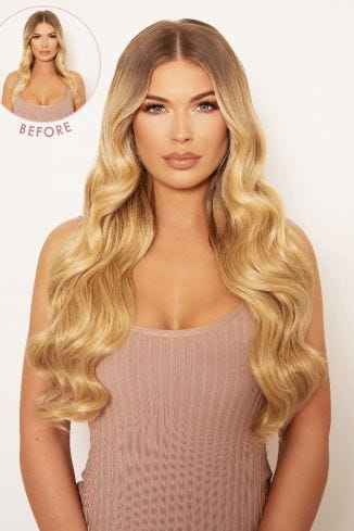Super Thick 22 5 Piece Natural Wavy Clip In Hair Extensions