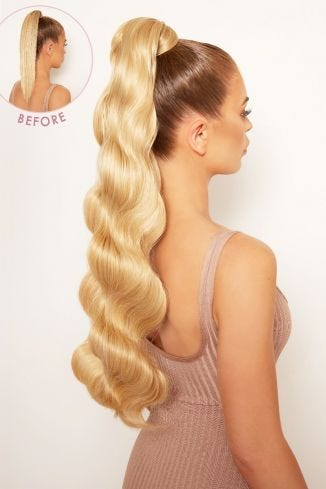 Grande Lengths 26 Hollywood Wave Wraparound Pony