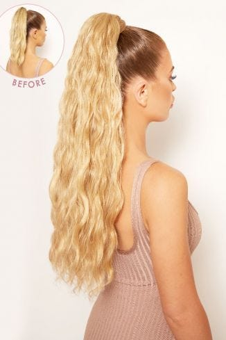 Grande Lengths 26 Textured Wave Wraparound Pony
