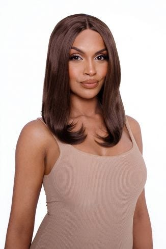 The Renée - Chestnut Brown Curved Lob Lace Front Wig