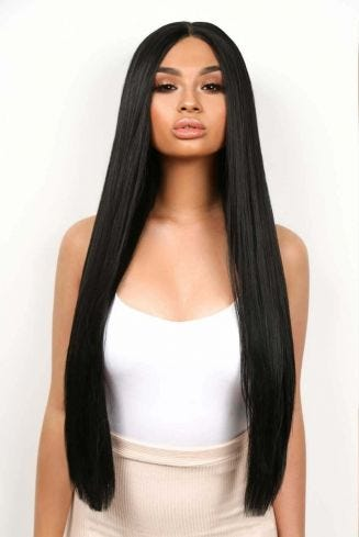 The Kourtney - Long Straight Jet Black Lace Front Wig