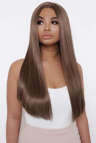 The Yasmine - Chestnut Sleek and Straight Lace Front Wig