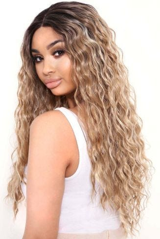The Yonce - Warm Blonde Textured Lace Front Wig